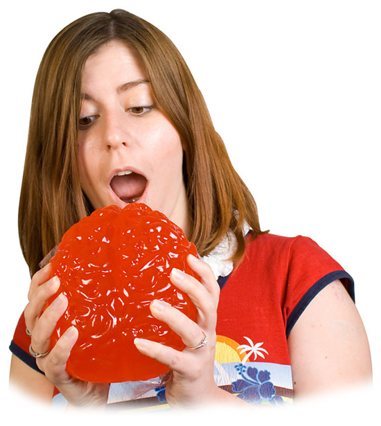 Giant Gummy Candy Brain