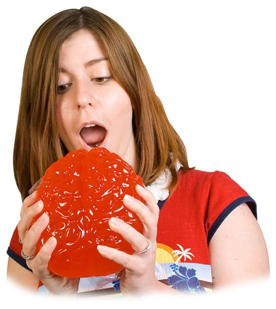 Giant Gummy Candy Brain