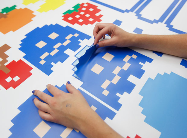 Giant Pacman Wall Decals. Pacman Border & Blik Pac-Man Wall Decals