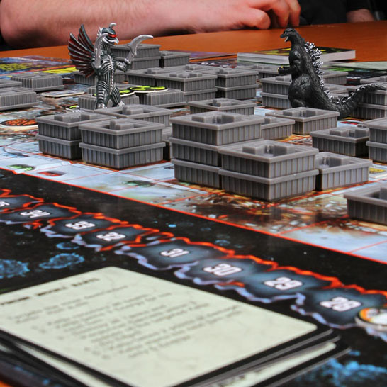 godzilla kaiju wars board game Godzilla, Rodan, Gigan, and King Ghidorah battle