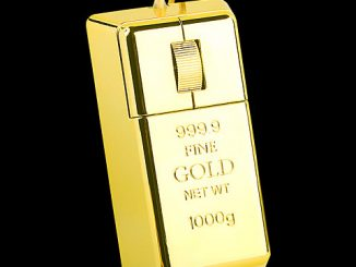 Gold Bar USB Computer Mouse