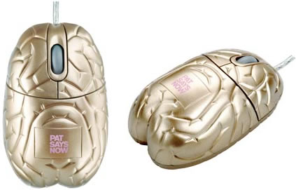 Gold Brain Computer Mouse
