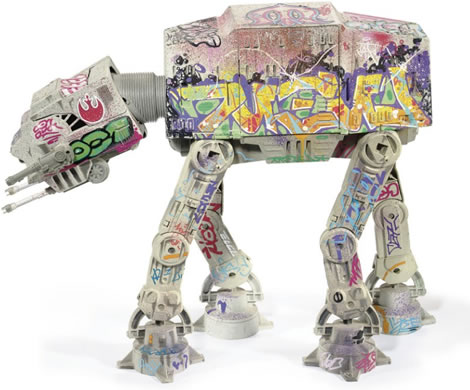 Graffiti Star Wars AT-AT