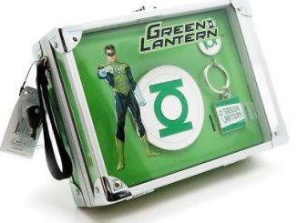 Green Lantern Lunch Box Belt Buckle and Key Chain Set