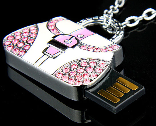 Handbag USB Flash Drive Necklace