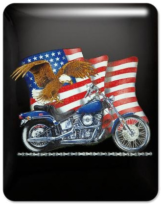 Harley Davidson Motorcycle Eagle US Flag iPad Case