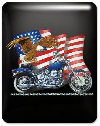 Harley Davidson Motorcycle Eagle US Flag iPad Case
