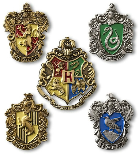 Harry Potter Hogwarts House Crest Pins