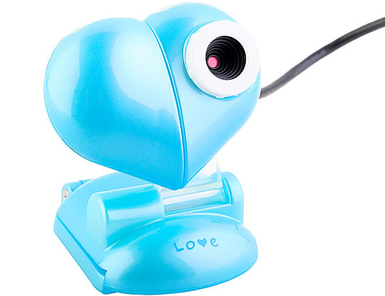 Heart-Shaped USB Webcam