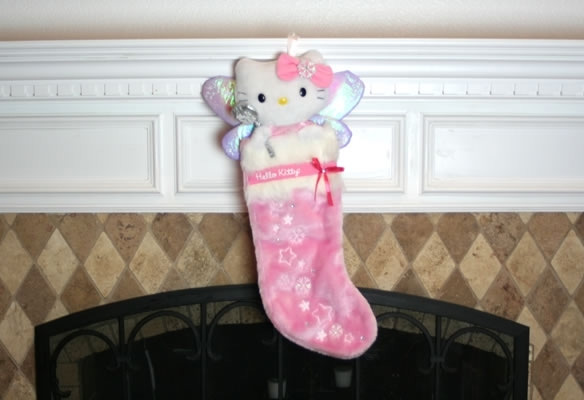 Hello Kitty Pink Plush Christmas Stocking