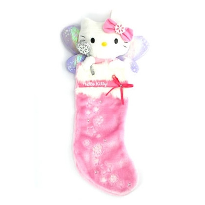 Hello Kitty Sugarplum Fairy Plush Christmas Stocking