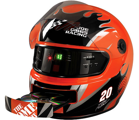 Nascar Helmet With Radio And Cd Player