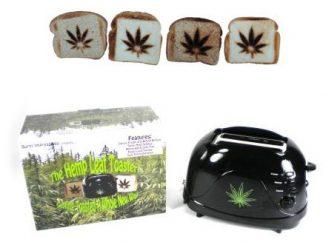 Burnt Impressions Marijuana Hemp Leaf Toaster
