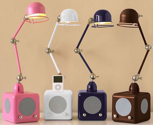 Hi-Fi Hi-Light iPod speaker desk lamp