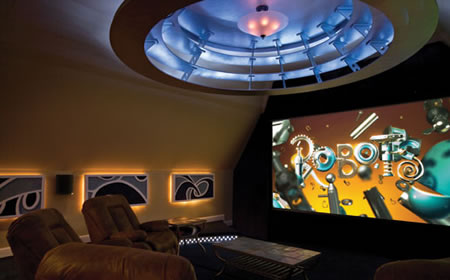 Home Theater with Rotating Floor