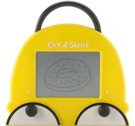 Homer Simpson Etch A Sketch