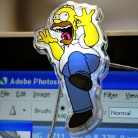Homer Simpson USB Monitor Lights