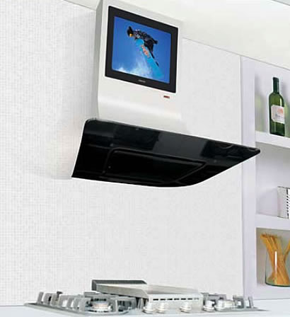Cooker Hood With Built In Lcd Tv