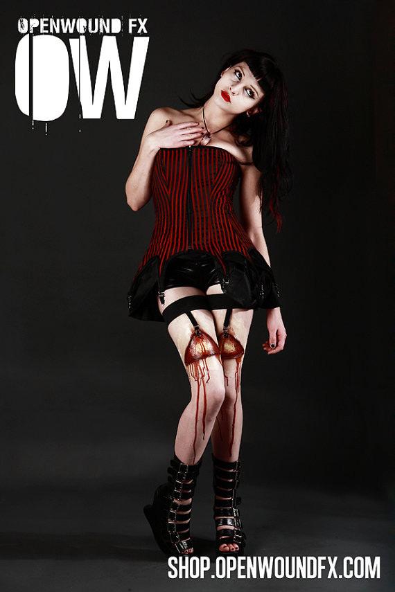 Horror Gartered Legs Costume