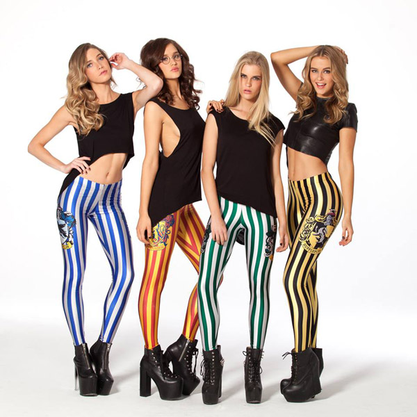 BlackMilk Harry Potter Hogwarts Collection House Leggings