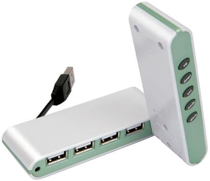4-Port USB Hub & Alarm Clock