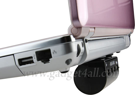 USB Hub Laptop Cooler