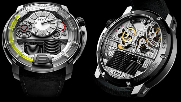 HYT H1 Hydro-Mechanical Titanium Watch