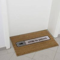 Fussmatte Slide To Unlock Doormat