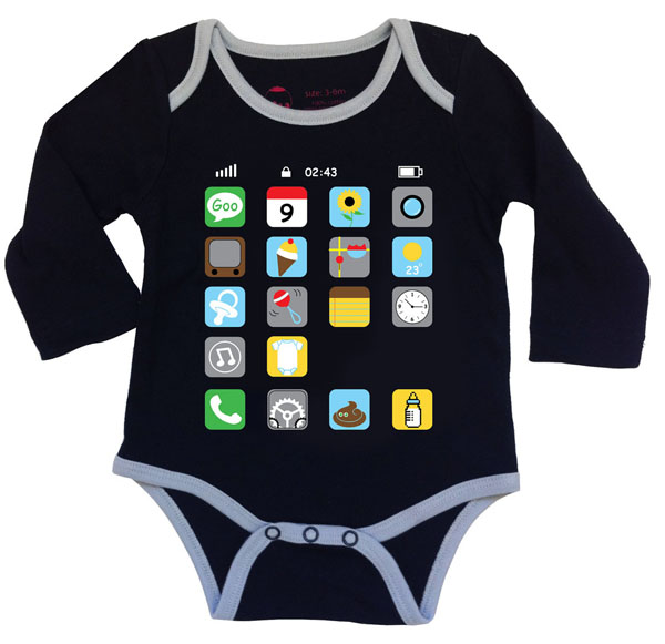 iPhone Baby Onesie