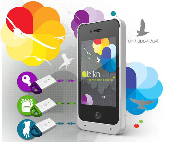 iPhone BiKN Smart Case with App and Tag