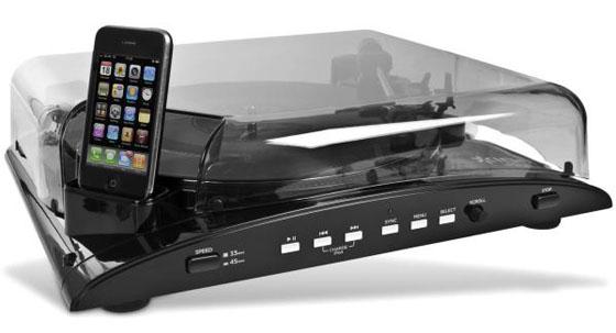 iPod & iPhone Retro Turntable