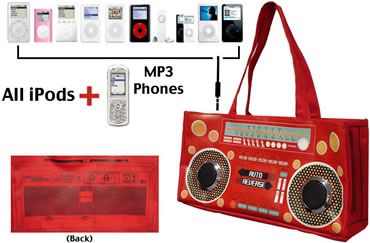 iBag iPod player/FM Radio Carrying Bag