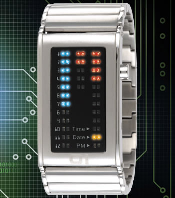 Ibiza Ride Binary LED Watch