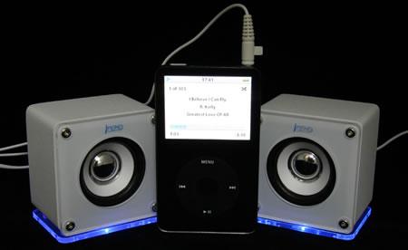 iMono Mini Cube LED Speakers