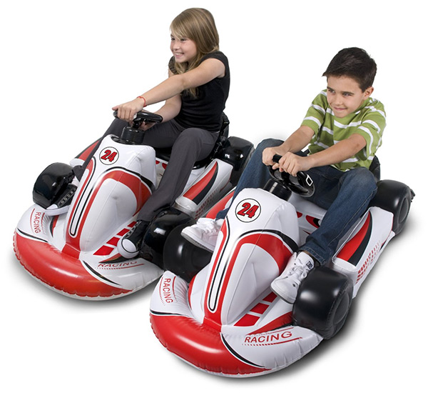 Inflatable Wii Race Cars