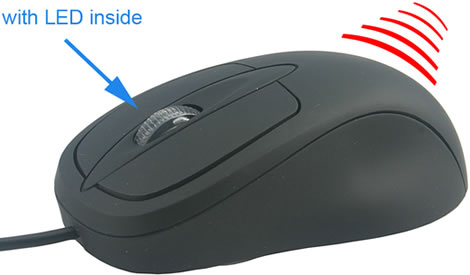 USB Mouse with Infrared Heater
