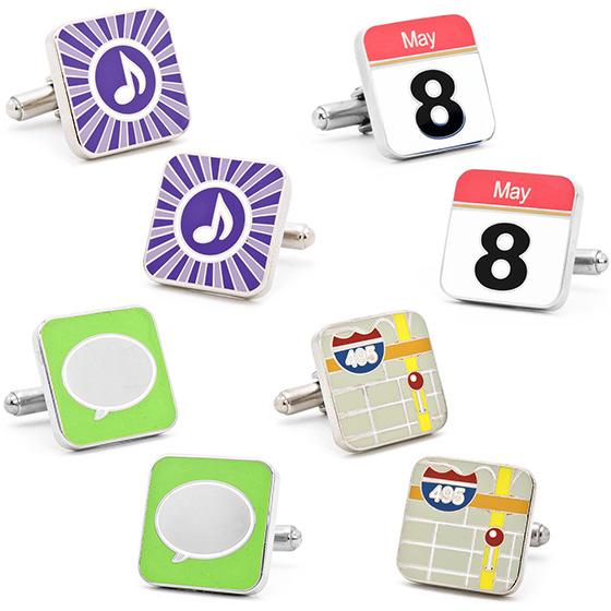 iPhone App Button Cufflinks