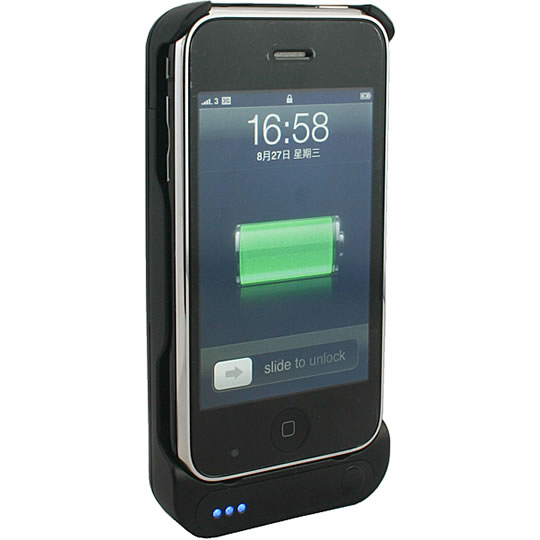 Portable iPhone Charger with Speaker and LED