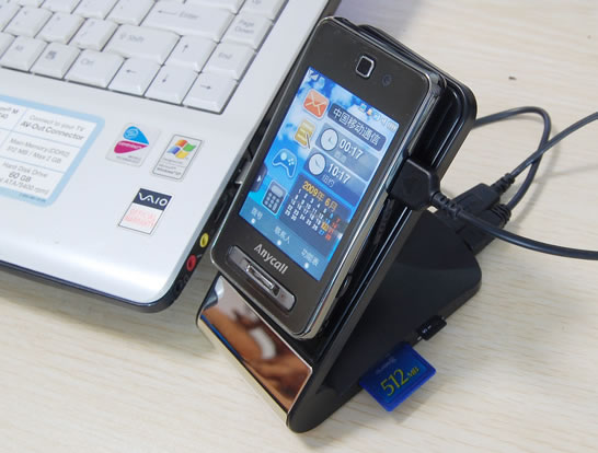 Anti Slip Gadget Holder with USB Card Reader