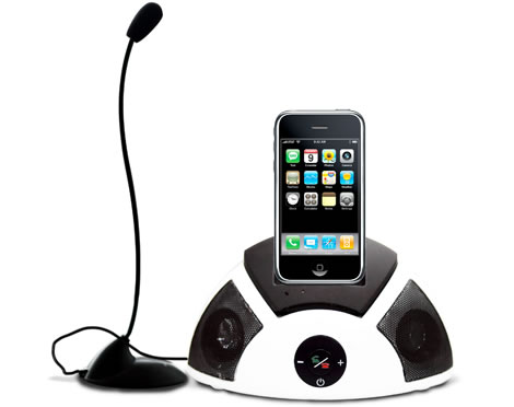 iPhone Dock with Speaker & Hands-Free Mic