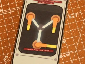 iPhone 4 Flux Capacitor Sticker