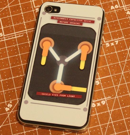 iPhone 4 Flux Capacitor Sticker