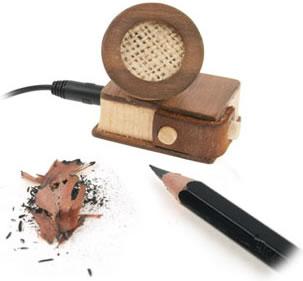 Wooden iPod Mini Speaker with Pencil Sharpener