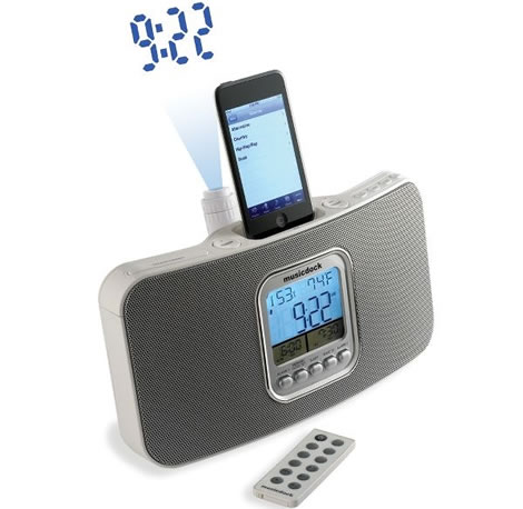 iPod Dock with Projection Clock and Radio
