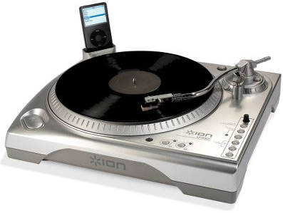 Ion USB Turntable with iPod Dock