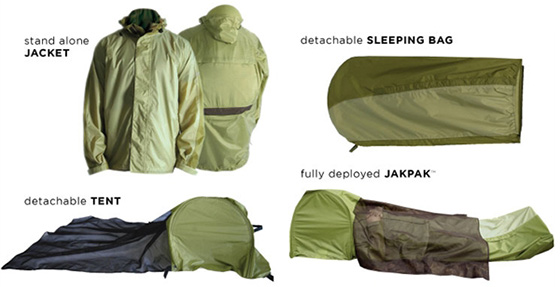 Jakpak Jacket Tent Sleeping Bag  sc 1 st  GeekAlerts & JakPak All-in-one Jacket Tent and Sleeping Bag