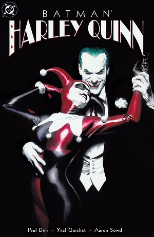 joker and harley quinn art print