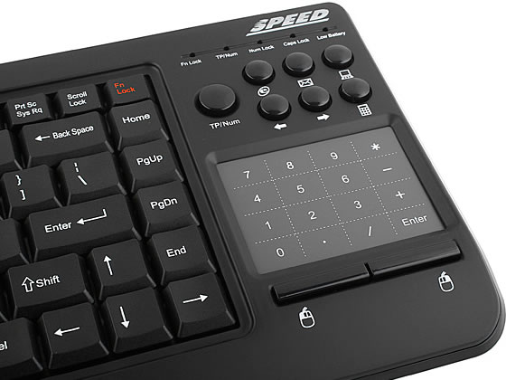 Wireless USB Keyboard with Smart Touchpad