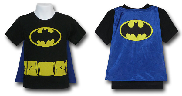 Kids Batman Caped Costume Shirt