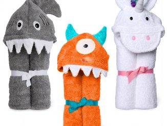 Monster, Shark and Unicorn Kids Hooded Towels